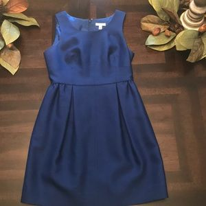 Blue J crew fit and flare dress